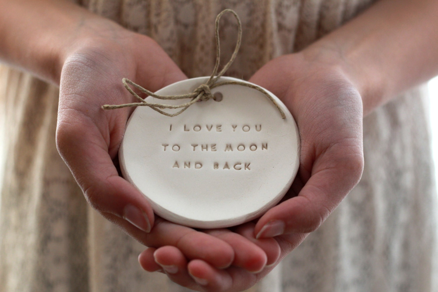 I love you to the moon and back Ring bearer pillow alternative
