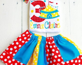 Circus Birthday Carnival shirt Outfit-Personalized