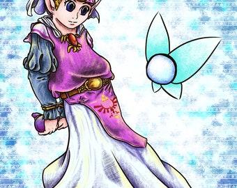Young Zelda Poster