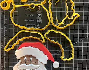 Santa Claus Cookie Fondant Cutter Set - Large Sizes! Extra Durable!