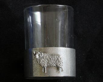 Aries The Ram Shot Glasses Pewter Based Round 50ml Birth Sign Gift
