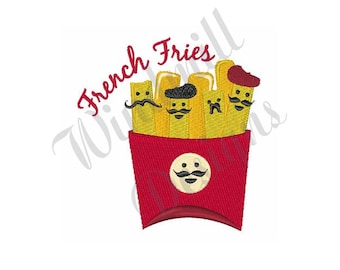French Fries - Machine Embroidery Design