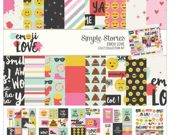 """Simple Stories """"Emoji Love"""" 12x12 Collection Kit"""