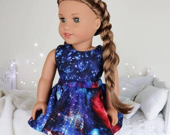 18 inch doll galaxy skater skirt & crop top