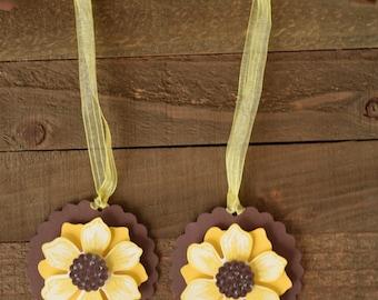 Sunflower Party Favor Tags, Sunflower Favor Tags, Sunflower Gift Tags, Sunflower Wedding Tags, Summer Wedding , Rustic Wedding