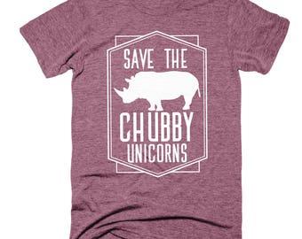 Rhinoceros Shirt | Save The Chubby Unicorn Shirt | Funny Tshirts | Mens Tshirts | Womens Graphic Tees | Foodie Gift | Funny Shirts | Animals
