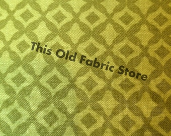 SALE 7.99 YARD - Olive Green Tone on Tone Fabric - 100 % Cotton - SMALL Cuts Left