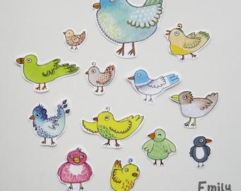 Birds Paper Flakes