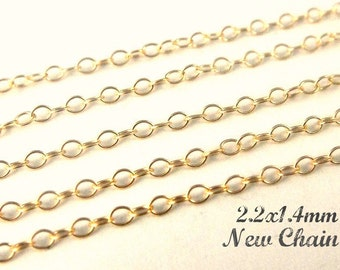 Coupon Code... 14k Gold Filled Cable Chain, 100 Ft Round WIre- 2.2x1.4mm BULK WHOLESALE