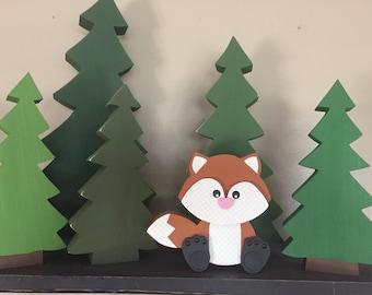 Woodland, Forest, Lumberjack Free Standing Wood Cutout Pine Tree Set, Tree Trio, Christmas Trees, Wooden Trees