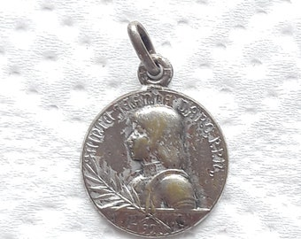JOAN OF ARC Antique French Medal - Please read the entire listing description.