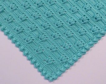 PDF Pattern Crocheted Baby Afghan, CAR SEAT Size and Newborn Size Blanket -- Spring Bouquet