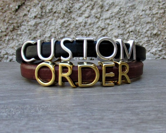 Mens Personalized Bracelet Customized Mens Women Bracelet Letters Bracelet Make Yours