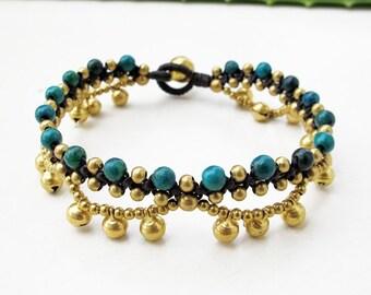 Chrysocolla Beaded Ring Ring Bracelets