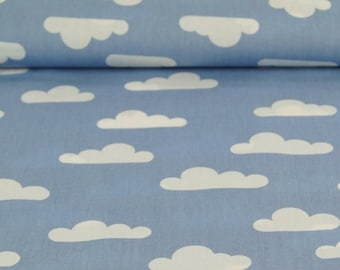 Printed Poplin / cloud blue / cut 25cm