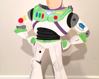Buzz Lightyear Inspired Party Prop, Toy Story Inspired Birthday Decorations, Hand Painted Stand-up Prop, Toy Story Birthday Party