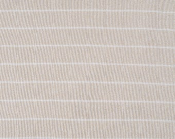 Fabric viscose Jersey ribbed green/pale beige striped 723 ref 145 cm
