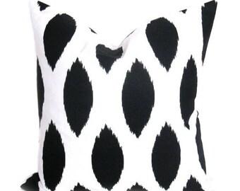15% Off Sale Ikat Pillow - Ikat Pillow covers - Pillows - Decorative Pillow - Black Pillow - Throw Pillow - Throw Pillow covers - Black Pill