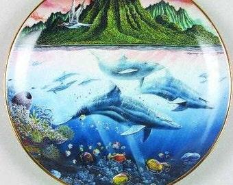UNDERWATER PARADISE, Danbury Mint, Porcelain Plates