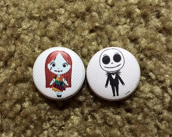 Jack And Sally Nightmare Before Christmas Pin Set 1""