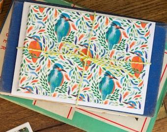 Bright Kingfisher Notecard Set