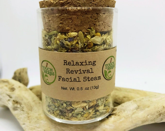 Facial Steam - Natural skincare - Relaxing Revival Facial Steam - up to 5 steams - unique gifts - calming gifts - Organic Skincare - Facials
