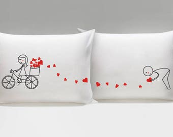 Valentines Day Gift for Him Boyfriend Gift Husband Gift Anniversary Gift for Him Couple Gift BoldLoft All My Love for You Couple Pillowcases