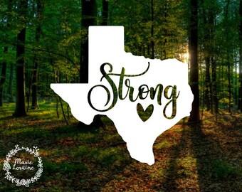Texas Strong - Texas Decal - Texas Sticker - Houston Strong - TX Strong - Texan Pride - Laptop Stickers - Car Decal - Car Sticker - Texas