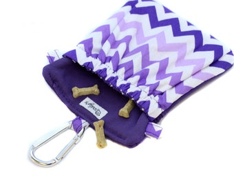The Pocket 2.0 - Treat and Training Pouch - Purple Chevrons