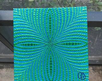 Optical Illusiion Geometric Dot Painting