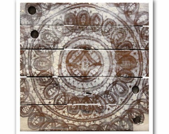 Rustic Modern Art Print-Antique Lace #7 on Reclaimed Wood-Giclee-Archival Print by Heather Roth