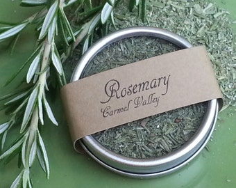 Dried Rosemary, organic dried herbs, spice tins, gourmet herbs, culinary herbs, gifts for chefs, herb garden rosemary plant gift for hostess