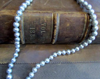 Beautiful Pale Grey Bridal Cultured Pearls - FREE POSTAGE