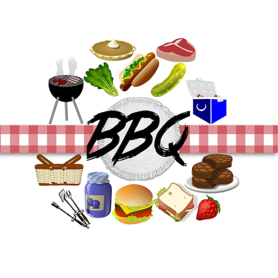 bbq clip art barbecue clip art grill clip art clip art rh etsy com clip art bbq ribs clip art bbq chicken wings and baked beans