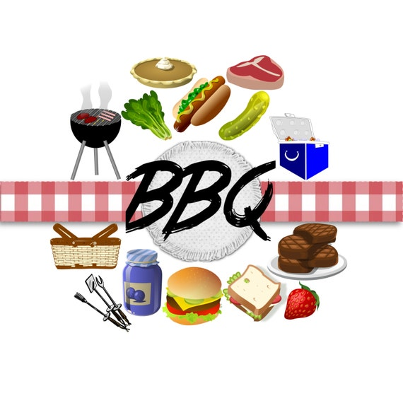 bbq clip art barbecue clip art grill clip art clip art rh etsy com barbeque clip art free barbecue clip art free