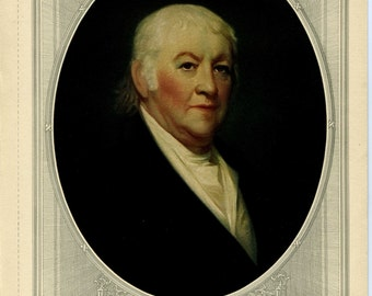 Paul Revere Lithograph: Famous American Series No. 7 - Forbes Lithograph Manufacturing Company Boston // Historical Paul Revere Portrait