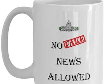 No fake news allowed coffee mug