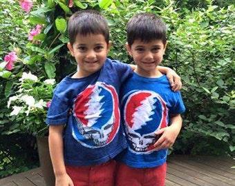 Grateful Dead Steal Your Face Kids Batik TShirt