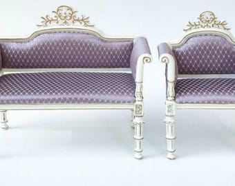 1:6 Scale Blythe Barbie Sofa Chair-2pcs