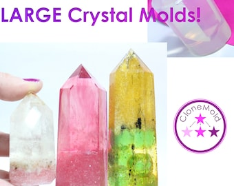 Large Crystal Stone Mold Natural Long Crystal Stone Rock Silicone Mold; Small, Medium OR Large