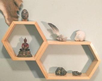 Modular Hexagon Honeycomb Shelving