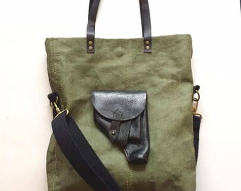 WWII era canvas bag with holster