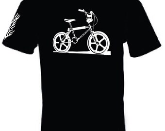 Old School Bmx T Shirt - Mongoose Raleigh Skyway Haro Burner Puch 80's Looptail