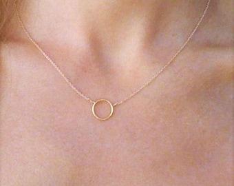 Circle pendant etsy 14k gold circle necklace gold karma necklace hammered gold circle pendant gold bridesmaid jewelry set gold layered necklace circle choker aloadofball Gallery