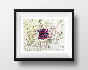 Cassandra Rose - illustration - giclee print