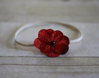 Simple Red Flower Headband