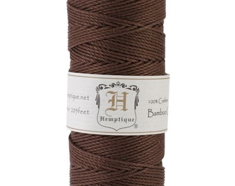 Brown Bamboo Cord for Jewelry, Packaging, Etc. 205 Feet - Natural and Eco-Friendly