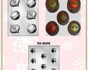 Christmas - Tree, Light, Ornament, Gift Chocolate Molds (G)