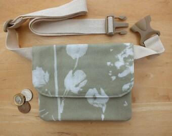Hip Bag or Waist Bag, Womens Belt Bag Small BumBag, Money Belt Purse, Fabric Travel or Phone Wallet, Slim Fanny Pack