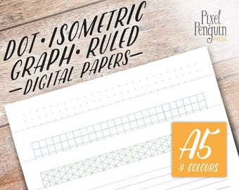 Dot Grid A5, Graph Paper PDF, Dotted Grid Printable, Printable Bullet Journal Kit Bujo Printable, A5 Filofax Insert Printable Dot Grid Paper